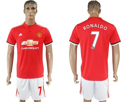Manchester United #7 Ronaldo Red Home Soccer Club Jersey